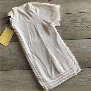 NWT Denim & Co cream zip cardigan